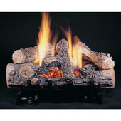 HG 24-in Evening Embers 24-inch 8-Piece Logs Only | Bark/Split | Vent Free