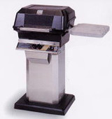MHP JNR Propane Grill W/ Stainless Steel Grids On Stainless Cart