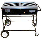 "Lazy Man Country Club 38"" Freestanding Grill"