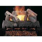 12-in Lone Star Gas Log Set | Flaming Ember Burner | Vented | Match Light | NG