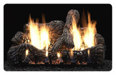 24-in Charred Oak 4 Piece Ceramic Fiber Log Set | Burner Sold Separately