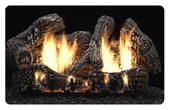 24-in Super Charred Oak 6 Piece Ceramic Fiber Log Set