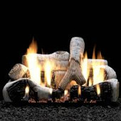 30-in Birch 4 Piece Ceramic Fiber Log Set | Burner Sold Separately
