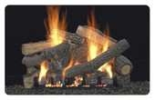 30-in Ponderosa Concrete Refractory Fireplace Gas Logs
