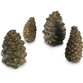 Pine Cones | Assorted Sizes | 4 pc