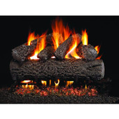 "18"" Post Oak Vented Gas Log Set, Stainless G45 Burner, Valve"