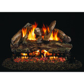 REDG45-18-SS Peterson Gas Logs 18 Inch Red Oak Vented Natural Gas Log Set With Outdoor Stainless G45 Burner - Match Light