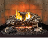 "VF18LA-1/Hearth Sense Ambilog Vent Free Gas 18"" Thermostat Log Set with Remote With LED Accent Lights - LP Gas"