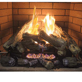"VF18LA-2/Hearth Sense Ambilog II Vent Free Gas 18"" Thermostat Log Set w Remote With LED Accent Lights - Propane Gas"