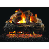 SG45-18-SS Peterson 18 Inch Split Oak Vented Natural Gas Log Set With Outdoor Stainless G45 Burner - Match Light