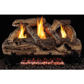 "20"" Split Oak Vent Free Natural Gas Log Set, G9 Burner, Manual Safety Pilot"