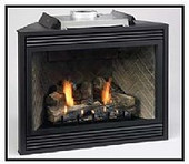 36-in Tahoe Deluxe Direct Vent Fireplace | NG