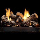 18-in Rock Creek Vented/Vent Free Refractory Log Set | No Burner