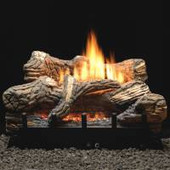 30-in Flint Hill Vented/Vent-Free Log Set | Thermostat Valve | LP