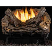 16-in Valley Oak Vent-Free Logs, Low BTU G8 Burner, Remote