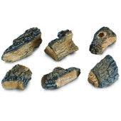WCH-6 Peterson Gas Logs Decorative Charred Wood Chips - Set Of 6