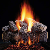 "24"" Prestige Highland Oak Vented Natural Gas logs, Electronic On/Off Ignition"