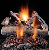 30-in Elegant Charred Split Oak Logs | High Performance Tech 9000 Burner System | Safety Pilot | NG