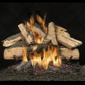 "Elegant Charred Split Oak 24\"" Vented Liquid Propane Logs"