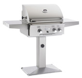 AOG 24-in Pedestal Post Natural Gas Grill w Rotisserie | 24NP
