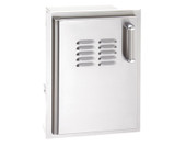 Door w Louvers, LP Tank Tray 20 x 14, Right Hinge, Fire Magic