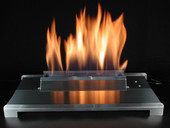 "American Fireglass 24"" Single Stainless Vent Free Burner"