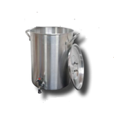 30 Qt. Aluminum Turkey Pot | Spigot, Lid, Lifting Rack, Hook