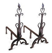 Cathedral Fireplace Andiron | Wrought Iron