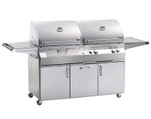 Fire Magic Aurora A830I Charcoal/Gas Grill on Cart w Rotis | NG