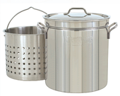 44-Qt. Stainless Stockpot with Lid, Basket
