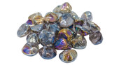 American Fyre GLD-10-L Peterson Lavender Diamond Nuggets Fire Glass
