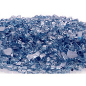 blue fire glass