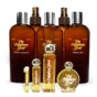 8 Ounce Bath & Body Collection: Body Lotion, Dry Body Oil, Aftershave Balm, Body Spritz, Bath Gel  -  Perfume Oil Sizes: 1 Mililiter Sample, 1/4 Ounce, 1 Ounce, 1/2 Ounce