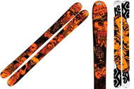 K2 Hellbent Skis with Integrated Griffon Schizofrantic Bindings 2012