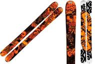K2 Hellbent Skis with Integrated Griffon Schizofrantic Bindings 2012