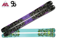 K2 Obsethed Skis with Integrated Griffon Schizofrantic Bindings 2012
