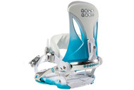 Rome Madison Women's Snowboard Binding 2012 Aqua/White S/M