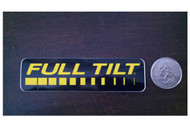 Full tilt Stickers- Black/Yellow