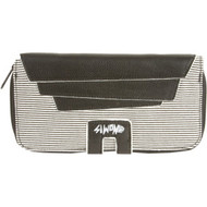 Black Striped Wallet