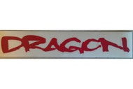 Dragon 10in Logo Sticker Red