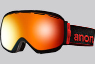 Anon Insurgent Black Goggle with Red Solex Lens 2013