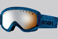 Anon Helix Etched Goggle with Silver Amber Lens 2013