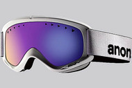 Anon Helix White Mirror Goggle with Blue Solex Lens 2013