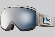 Anon Women's Somerset White Suede Goggle with Blue Silver Fade Lens 2013