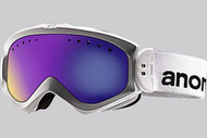 Anon Women's Majestic White Goggle with Blue Solex Lens 2013