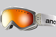 Anon Women's Majestic White Goggle with Red Solex Lens 2013