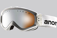 Anon Women's Majestic White Goggle with Silver Amber Lens 2013