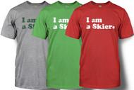 Line Skier Forever Mens Tshirt 2014