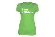 Line Skier Forever Womens Tshirt 2014