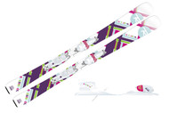 Rossignol Fun Girl Kid Skis with Xelium Saphir 45 Bindings 2014